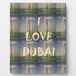 Amo Dubai Placa Para Mostrar