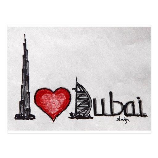 Amo Dubai Tarjetas Postales