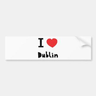 Amo Dublín Pegatina De Parachoque