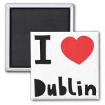 Amo Dublín Imán Cuadrado