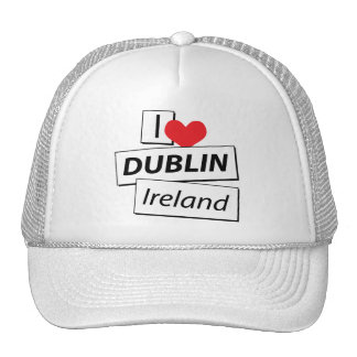 Amo Dublín Irlanda Gorras De Camionero