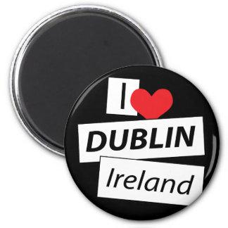 Amo Dublín Irlanda Imán Redondo 5 Cm