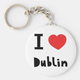 Amo Dublín Llavero Personalizado