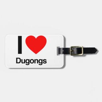 amo dugongs etiqueta para equipaje