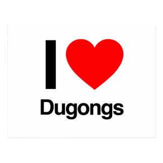 amo dugongs tarjeta postal