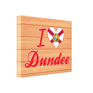 Amo Dundee, la Florida Impresión En Lienzo Estirada