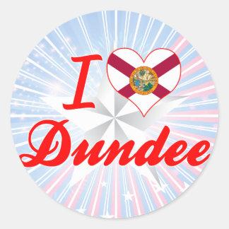 Amo Dundee, la Florida Pegatinas Redondas