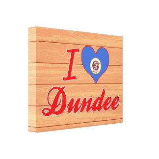 Amo Dundee, Minnesota Lienzo Envuelto Para Galerías
