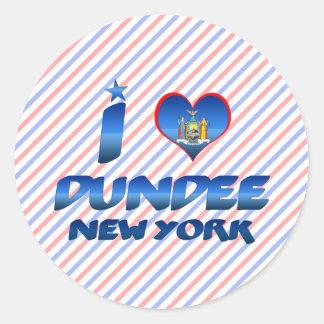 Amo Dundee, Nueva York Pegatina Redonda