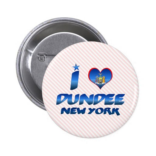 Amo Dundee, Nueva York Pin Redondo 5 Cm