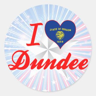 Amo Dundee, Oregon Pegatinas Redondas