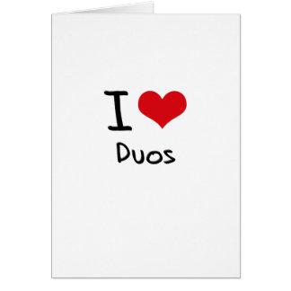 Amo dúos tarjetas