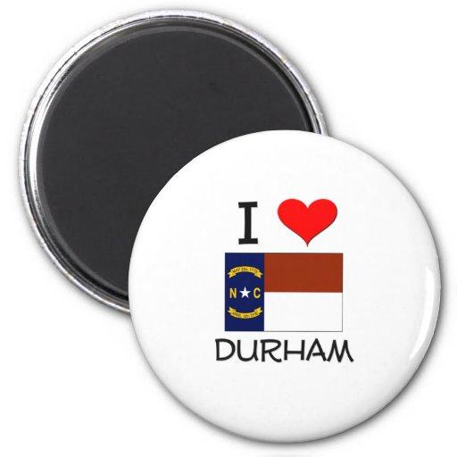 Amo Durham Carolina del Norte Imán Redondo 5 Cm