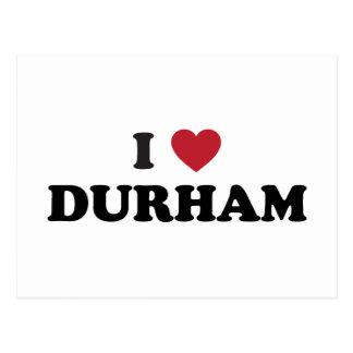 Amo Durham Carolina del Norte Tarjeta Postal