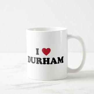 Amo Durham Carolina del Norte Taza Básica Blanca