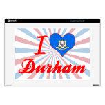 Amo Durham, Connecticut Calcomanía Para Portátil