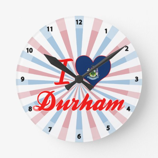 Amo Durham, Maine Reloj Redondo Mediano