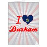 Amo Durham, Maine Tarjeton