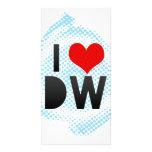 Amo DW Tarjeta Con Foto Personalizada
