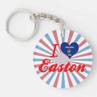 Amo Easton, Wisconsin Llavero Redondo Acrílico A Una Cara