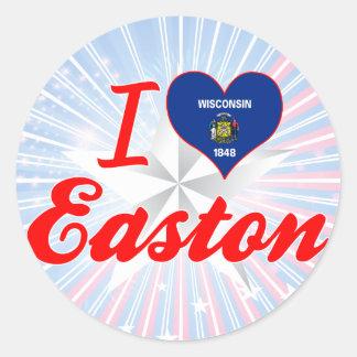 Amo Easton, Wisconsin Pegatina Redonda