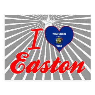 Amo Easton, Wisconsin Tarjetas Postales
