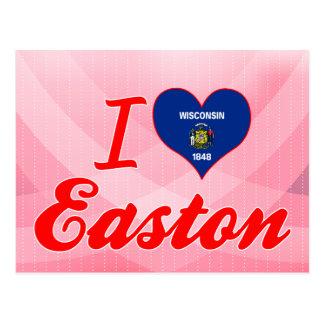 Amo Easton, Wisconsin Tarjeta Postal