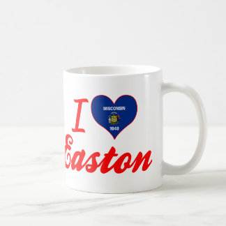 Amo Easton, Wisconsin Taza Básica Blanca