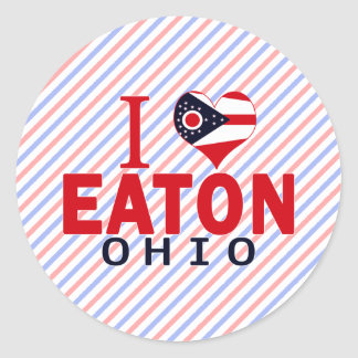 Amo Eaton Ohio Pegatinas Redondas