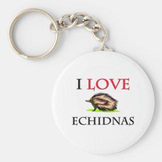 Amo Echidnas Llavero Personalizado