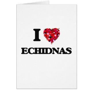 Amo Echidnas Tarjeta De Felicitación
