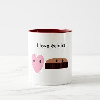 Amo éclairs taza de café