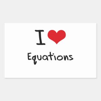 Amo ecuaciones pegatina rectangular