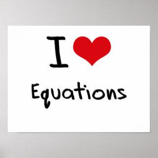 Amo ecuaciones póster
