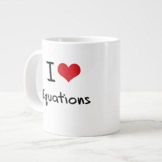 Amo ecuaciones tazas extra grande