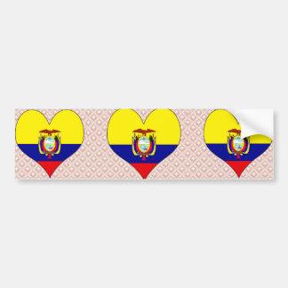 Amo Ecuador Pegatina De Parachoque