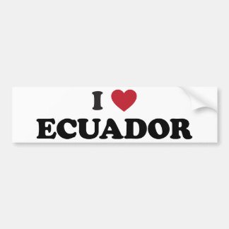 Amo Ecuador Pegatina Para Auto