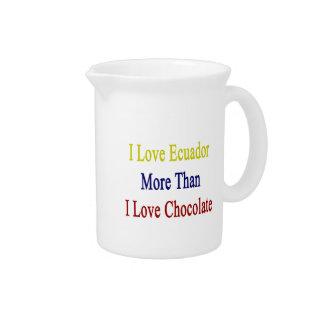 Amo Ecuador más que el chocolate del amor de I Jarra Para Bebida