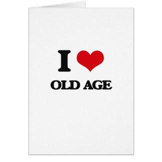 Amo edad avanzada tarjeta de felicitación