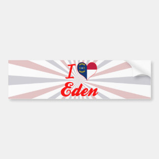 Amo Eden, Carolina del Norte Pegatina Para Auto