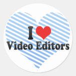 Amo editores de vídeo etiquetas redondas