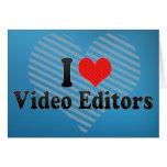 Amo editores de vídeo felicitacion