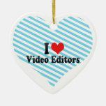 Amo editores de vídeo ornamentos para reyes magos