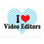 Amo editores de vídeo tarjeta postal