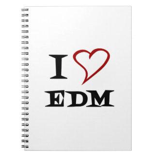 Amo EDM Cuaderno
