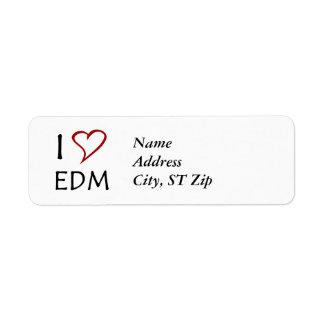 Amo EDM Etiquetas De Remite