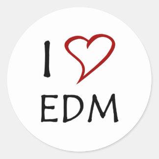 Amo EDM Etiqueta Redonda