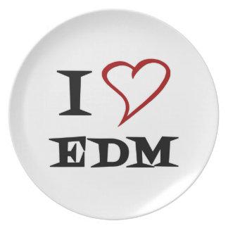 Amo EDM Platos Para Fiestas