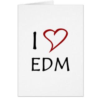 Amo EDM Tarjeta De Felicitación