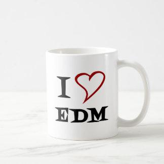 Amo EDM Taza Básica Blanca